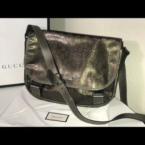 Authentic Gucci supreme crystal crossbody bag